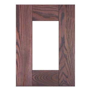 Мебельный фасад ФОРВАРД витрина из массива древесины + краситель + матовый лак
