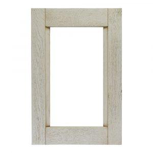 """Мебельный фасад КОМБИ витрина из массива древесины + матовая краска + патина + эффект """"открытые поры"""""""